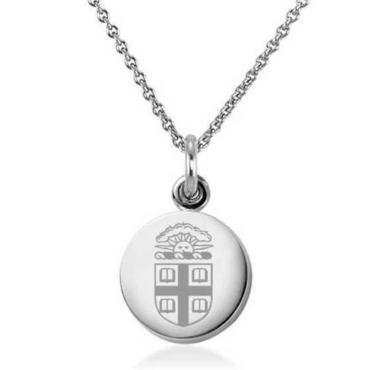 615789571193: Brown University Necklace with Charm in SS