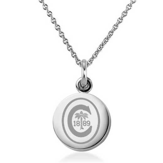 615789605225: Clemson Necklace with Charm in SS