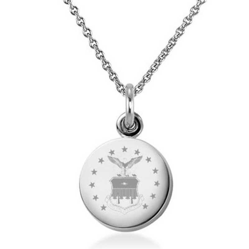 615789616979: US Air Force Academy Necklace with Charm in SS