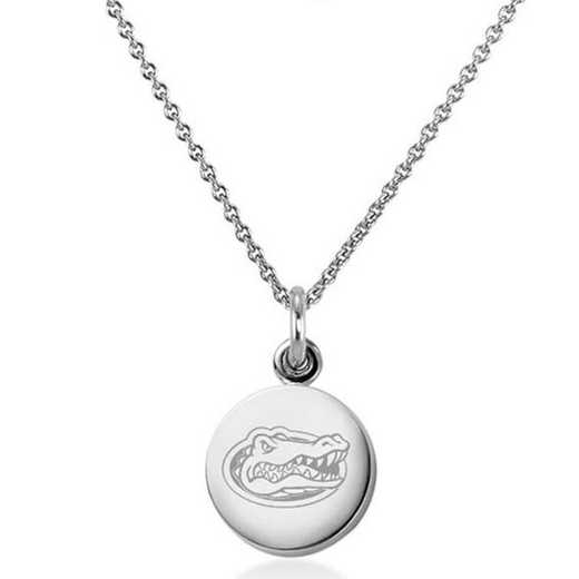 615789621638: University of Florida Necklace with Charm in SS