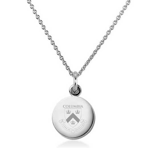 615789646570: Columbia University Necklace with Charm in SS