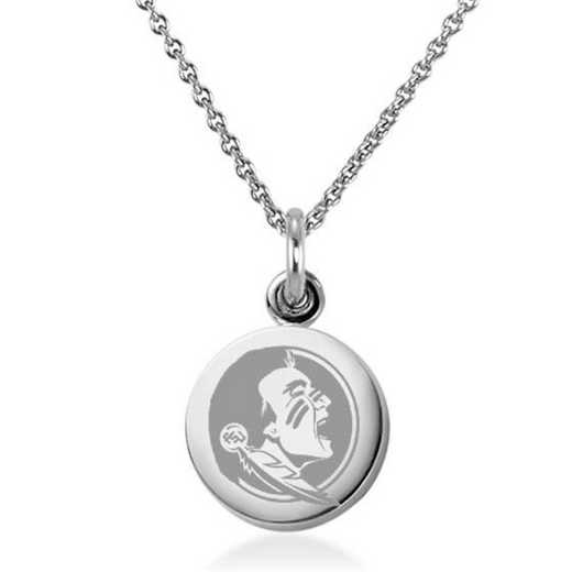 615789677543: Florida State University Necklace with Charm in SS