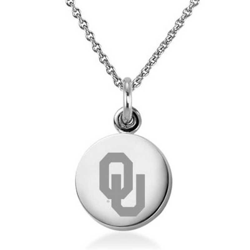 615789723929: University of Oklahoma Necklace with Charm in SS