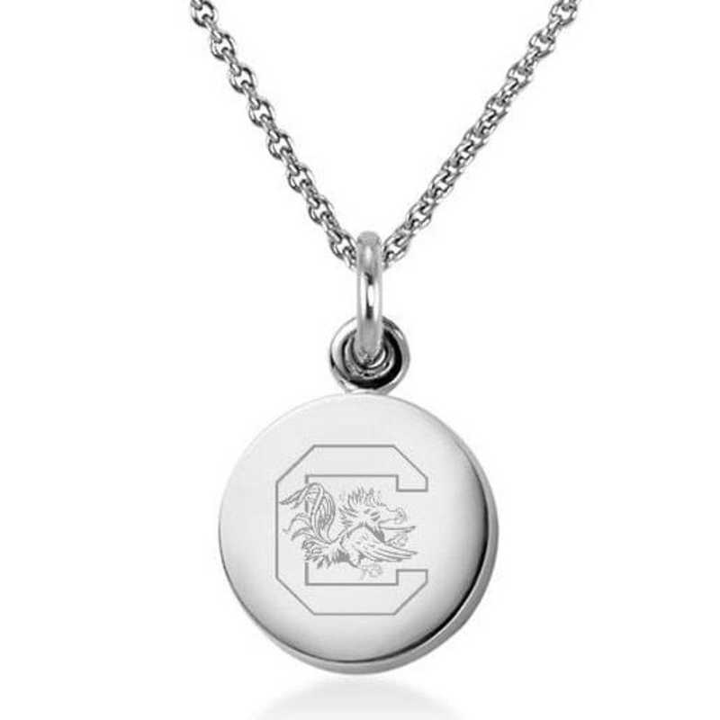 615789732846: University of South Carolina Necklace with Charm in SS