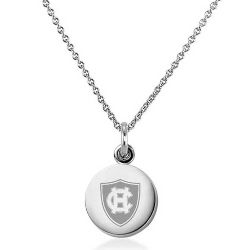 615789754466: Holy Cross Necklace with Charm in SS
