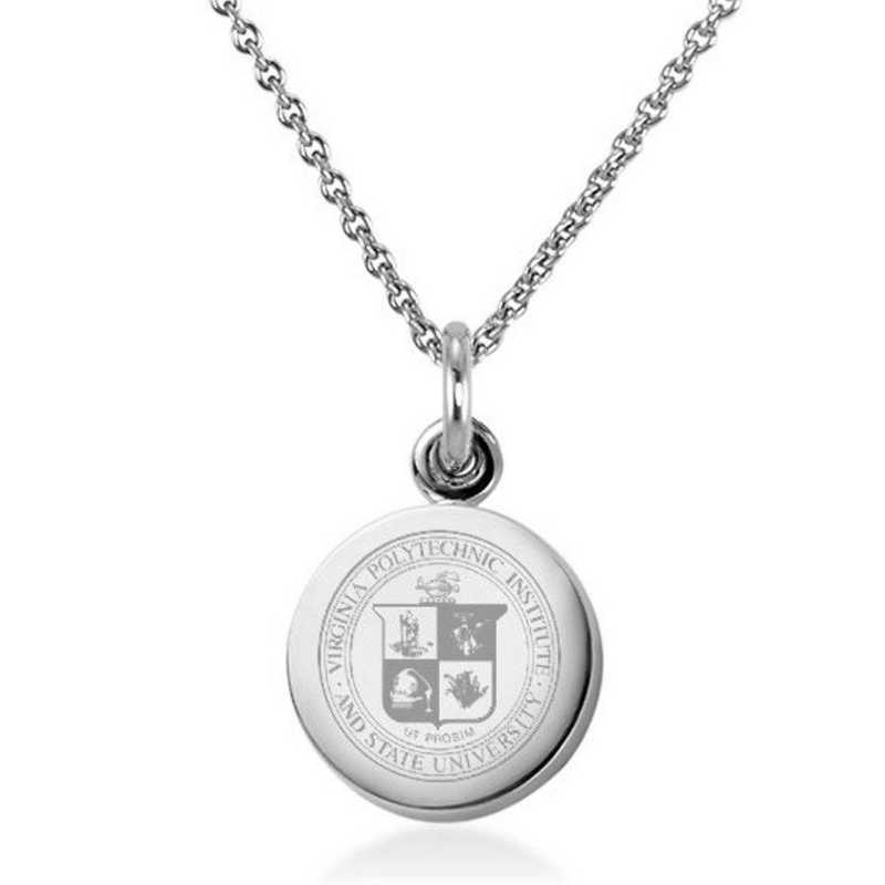 615789771395: Virginia Tech Necklace with Charm in SS