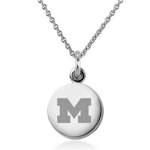 615789816805: University of Michigan Necklace with Charm in SS