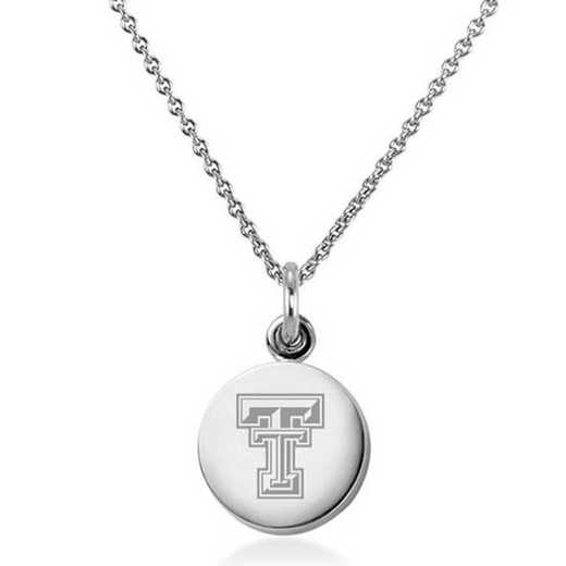 615789832393: Texas Tech Necklace with Charm in SS