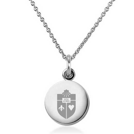 615789883203: St. John's University Necklace with Charm in SS