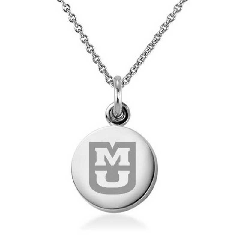 615789883869: University of Missouri Necklace with Charm in SS