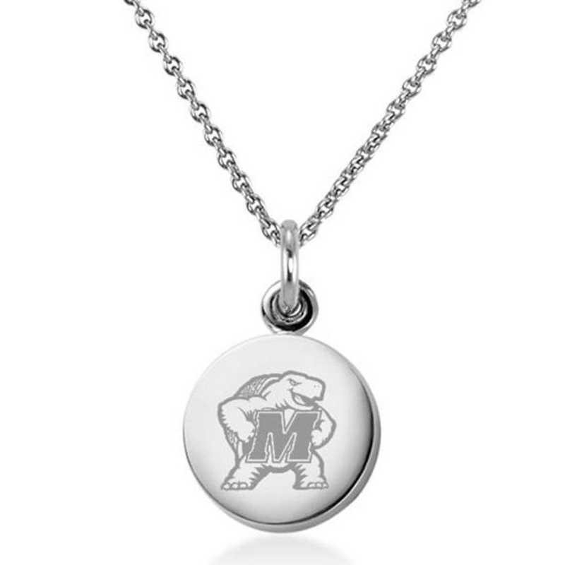 615789884217: University of Maryland Necklace with Charm in SS