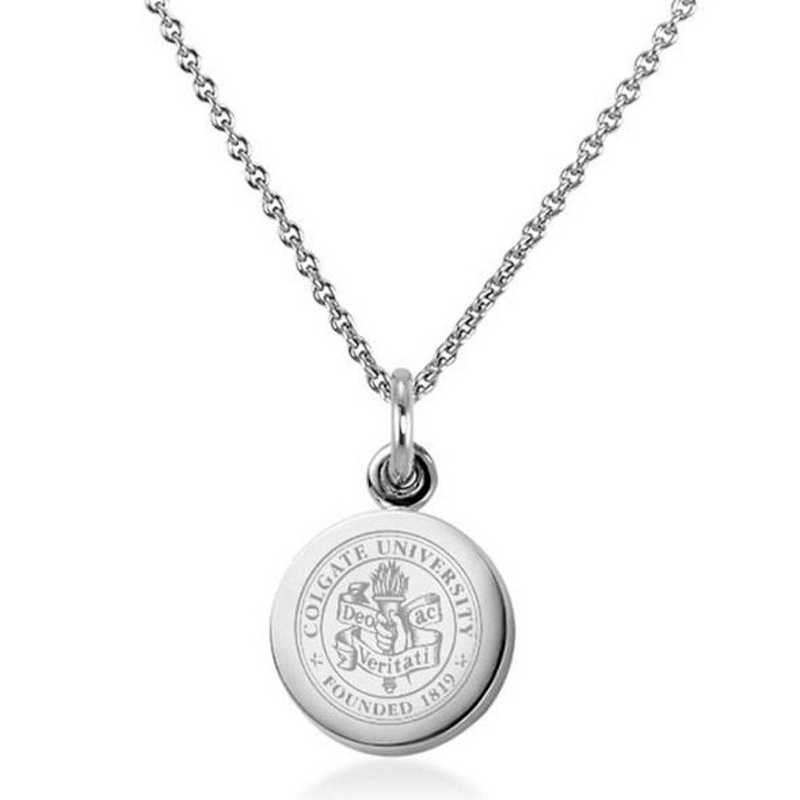 615789895787: Colgate University Necklace with Charm in SS
