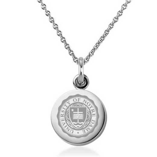 615789923268: University of Notre Dame Necklace with Charm in SS