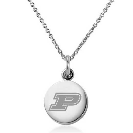 615789926764: Purdue University Necklace with Charm in SS