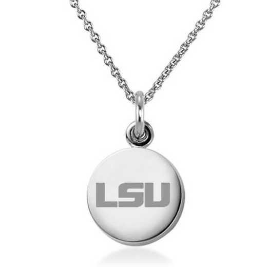 615789961130: Louisiana State University Necklace with Charm in SS