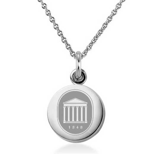 615789994398: University of Mississippi Necklace with Charm in SS