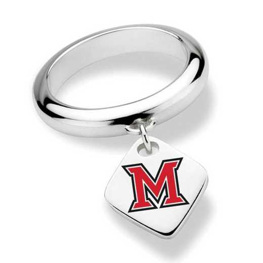 Miami University Sterling Silver Ring with Sterling Tag by M.LaHart & Co.