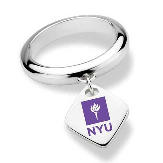 NYU Sterling Silver Ring with Sterling Tag by M.LaHart & Co.