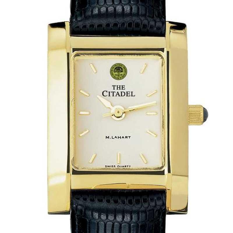 615789023999: Citadel Women's Gold Quad Watch W/ Leather Strap