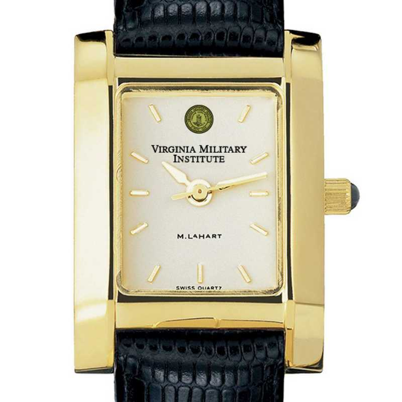 615789282914: VMI Women's Gold Quad Watch W/ Leather Strap