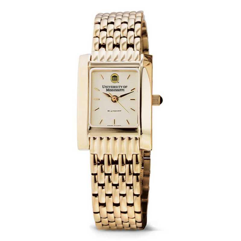 615789083412: Ole Miss Women's Gold Quad Watch with Bracelet