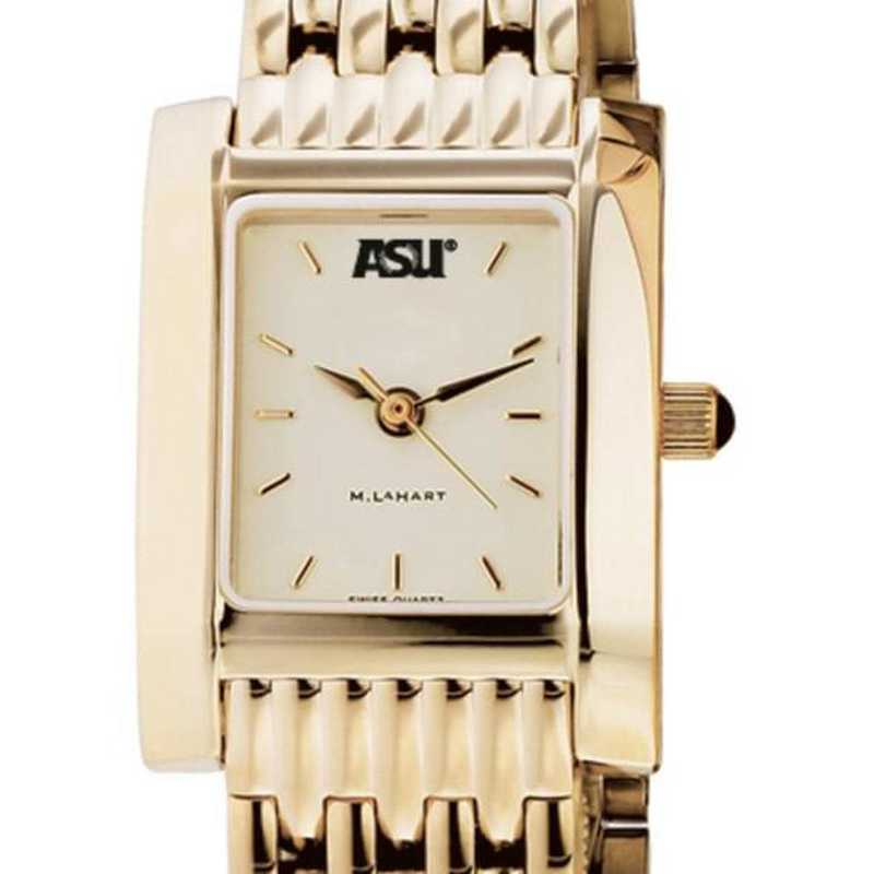 615789121015: ASU Women's Gold Quad Watch with Bracelet