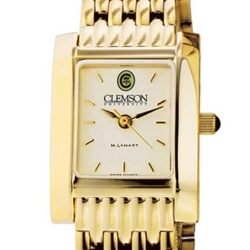615789147855: Clemson Women's Gold Quad Watch with Bracelet