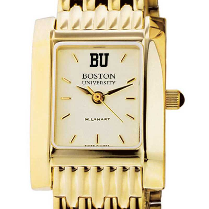 615789186984: Boston University Women's Gold Quad W/ Bracelet