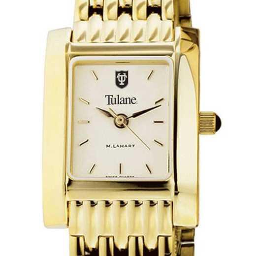 615789312567: Tulane Women's Gold Quad W/ Bracelet