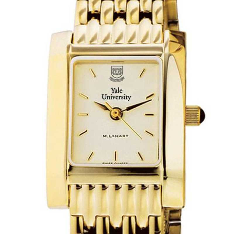 615789410461: Yale Women's Gold Quad Watch with Bracelet