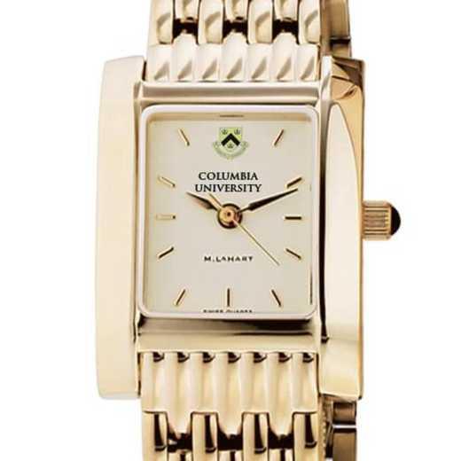 615789410621: Columbia University Women's Gold Quad Watch with Bracelet