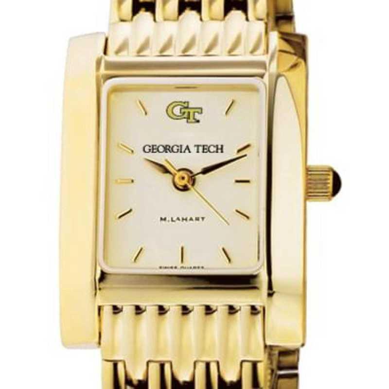 615789452485: Georgia Tech Women's Gold Quad Watch with Bracelet