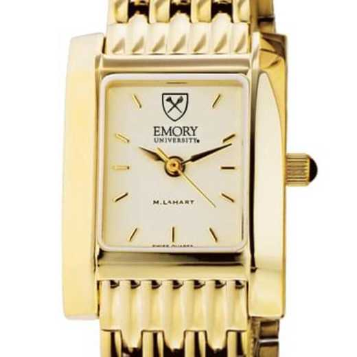 615789497998: Emory Women's Gold Quad Watch with Bracelet
