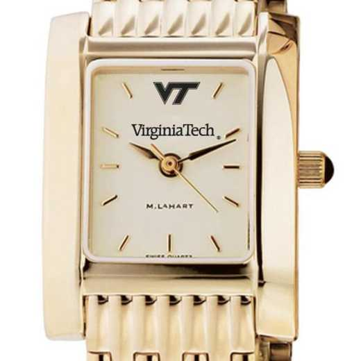 615789553571: Virginia Tech Women's Gold Quad Watch with Bracelet