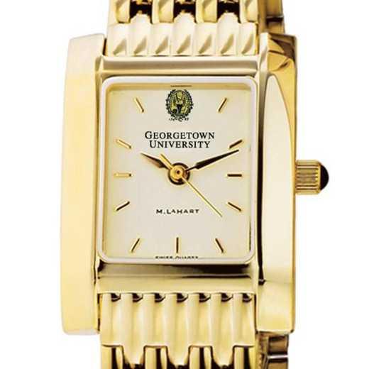 615789563266: Georgetown Women's Gold Quad Watch with Bracelet