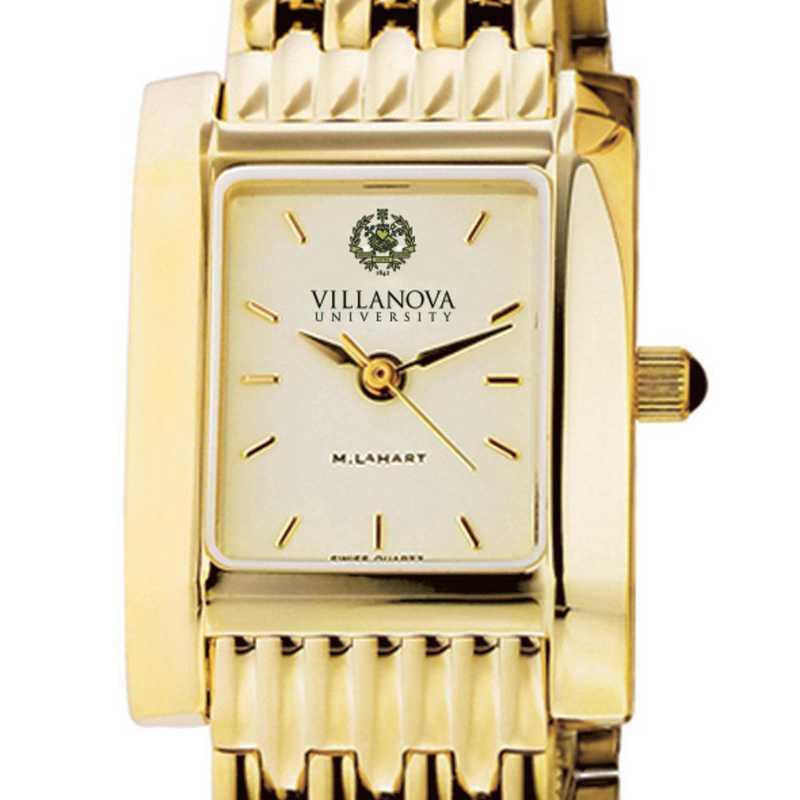 615789620617: Villanova Women's Gold Quad Watch with Bracelet