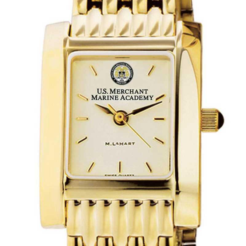 615789735632: USMMA Women's Gold Quad Watch with Bracelet