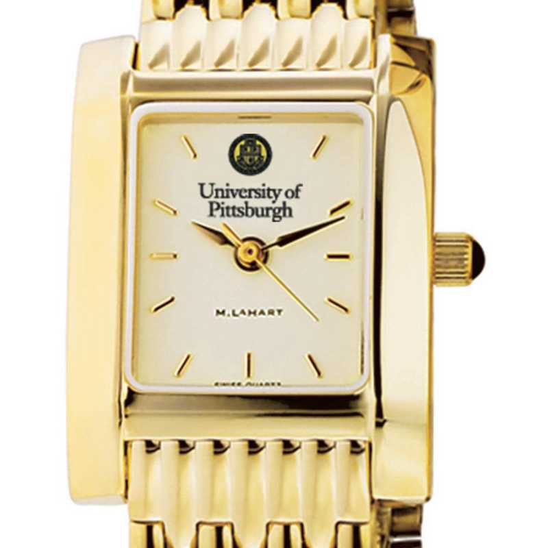 615789762881: Pittsburgh Women's Gold Quad Watch with Bracelet
