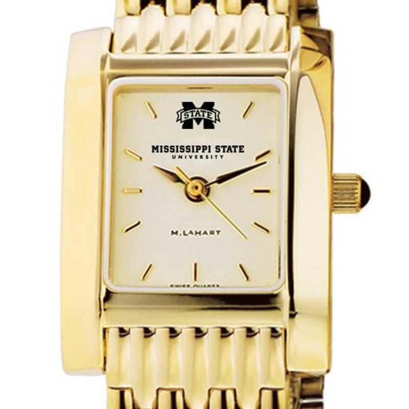 615789845140: Mississippi ST Women's Gold Quad W/ Bracelet