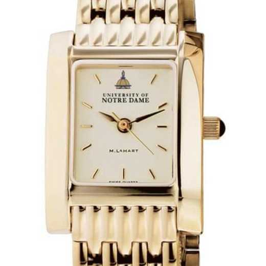 615789954439: Notre Dame Women's Gold Quad Watch with Bracelet