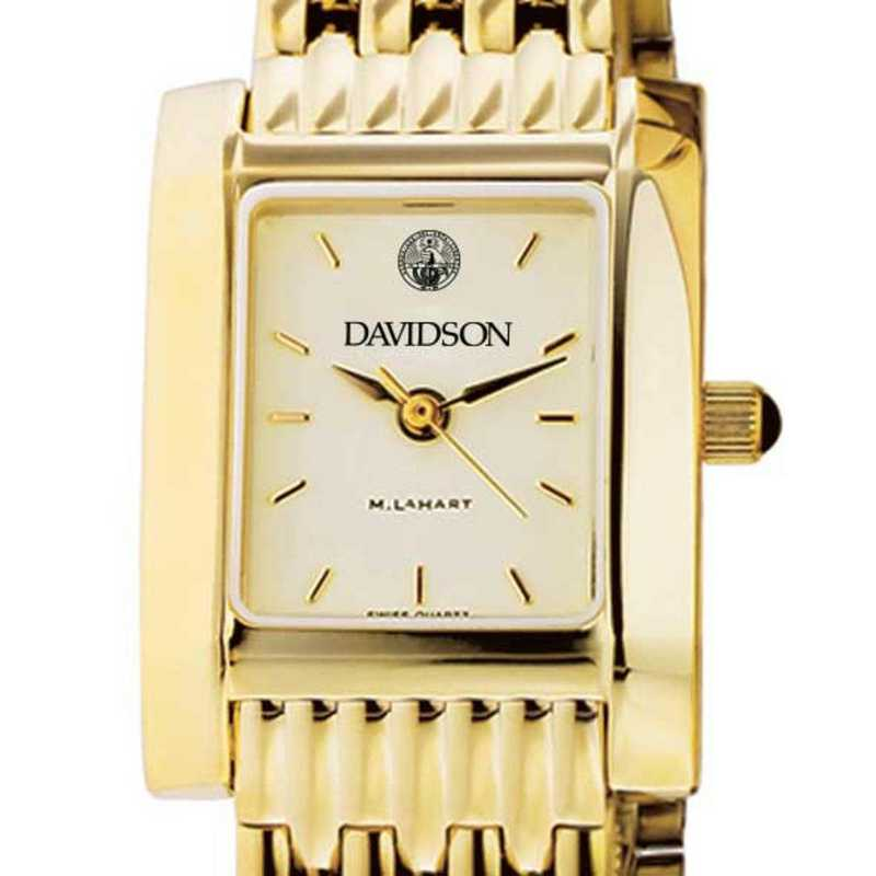 615789973324: Davidson College Women's Gold Quad W/ Bracelet