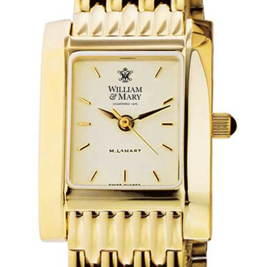 615789984962: William & Mary Women's Gold Quad Watch with Bracelet