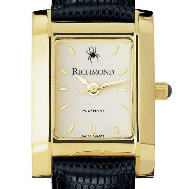 615789161004: univ of Richmond Women's Gold Quad w/ Leather Strap
