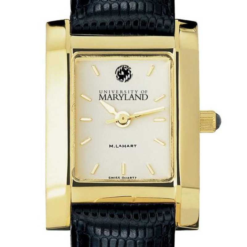 615789992868: Maryland Women's Gold Quad w/ Leather Strap