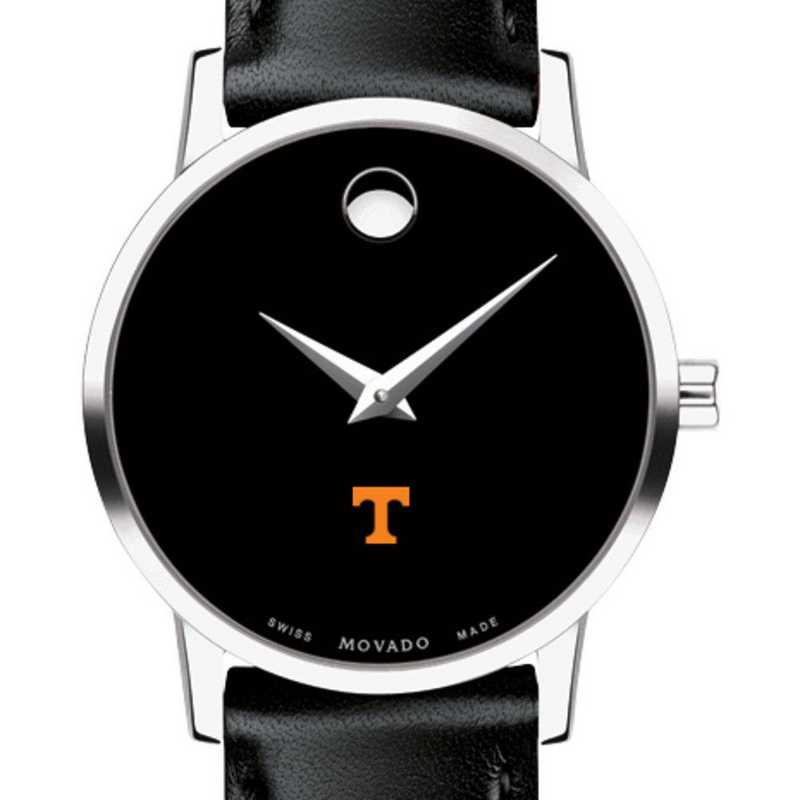 615789016878: Unive of Tennessee Women's Movado Museum with Leather Strap