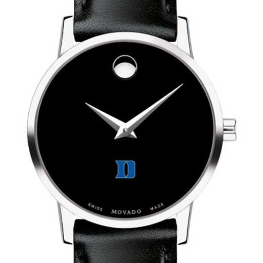 615789047339: Duke Univ Women's Movado Museum w/ Leather Strap
