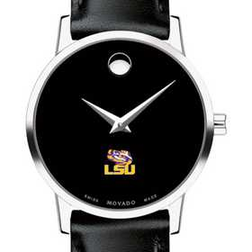 615789133391: Louisiana State Uni Women's Movado Museum with Leather Strap