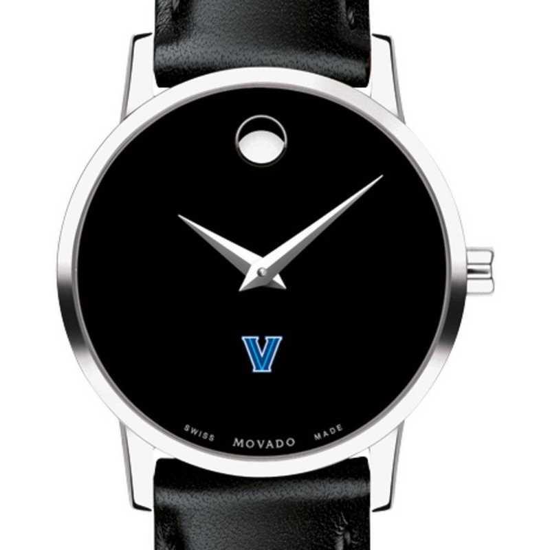 615789145851: Villanova Univ Women's Movado Museum with Leather Strap