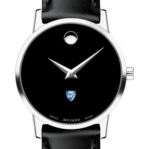 615789177364: Johns Hopkins Univ Women's Movado Museum w/ Leather Strap