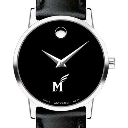 615789248033: George Mason Univ Women's Movado Museum w/ Leather Strap